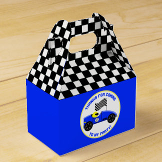 Race Fans Birthday Party Favor Box