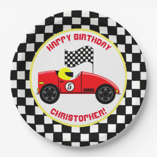 Race Fans Birthday Party Paper Plate