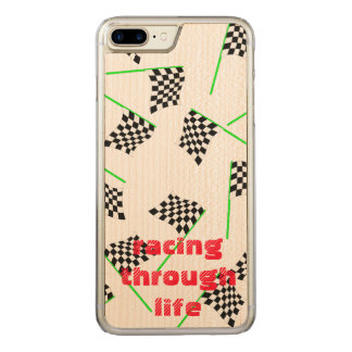 Race Flags by The Happy Juul Company Carved iPhone 7 Plus Case