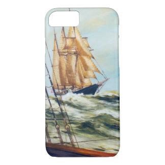Race Home Sailing Ship Original Fine Art iPhone 8/7 Case