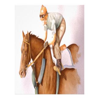 Race Horse and Jockey Customized Letterhead
