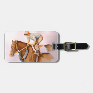 Race Horse and Jockey Luggage Tag
