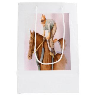 Race Horse and Jockey Medium Gift Bag