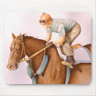 Race Horse and Jockey Mouse Pad