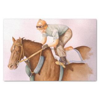 Race Horse and Jockey Tissue Paper
