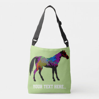 Race Horse Cross Body Bag Personalized