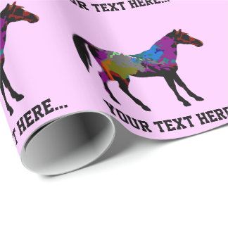 Race Horse Personalised Wrapping Paper