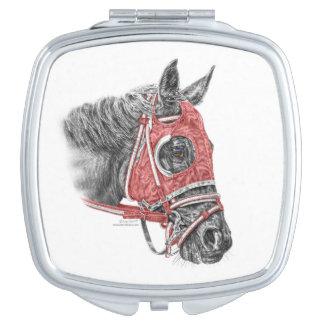 Race Horse Portrait Silks Compact Mirrors