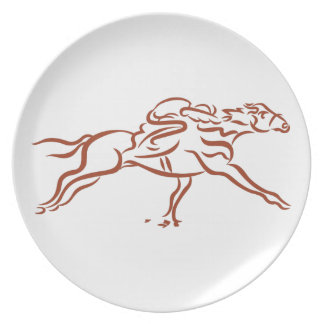 Race Horses Plate