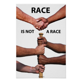 Race is not a Race Poster