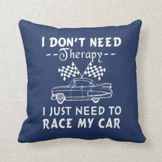 Race my car throw pillow