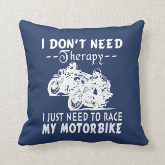RACE MY MOTORBIKE THROW PILLOW