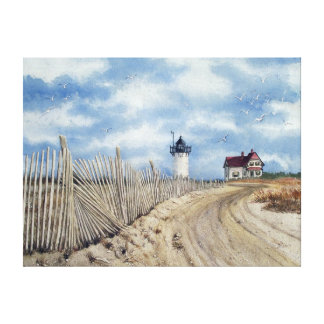 """ Race Point Light"" Stretched Canvas Print"