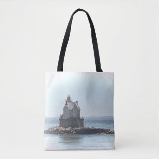Race Rock Lighthouse - In A Lighter Tone Tote Bag