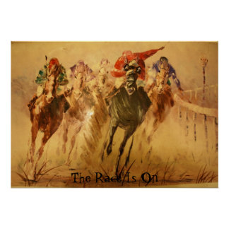 race, The Race Is On Poster