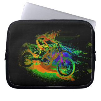 Race to the Finish! - Motocross Racer Laptop Sleeve