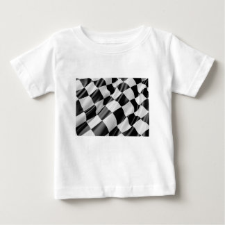 Race Track Flag Flag Black And White Finish Speed Baby T-Shirt