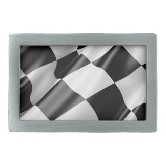 Race Track Flag Flag Black And White Finish Speed Belt Buckle