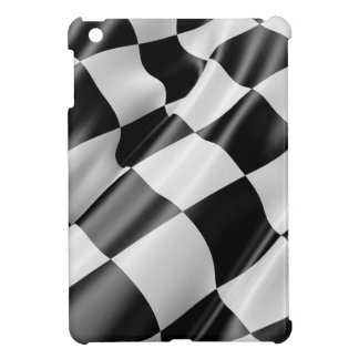 Race Track Flag Flag Black And White Finish Speed iPad Mini Cover