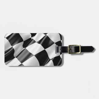 Race Track Flag Flag Black And White Finish Speed Luggage Tag