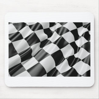 Race Track Flag Flag Black And White Finish Speed Mouse Pad