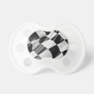 Race Track Flag Flag Black And White Finish Speed Pacifier