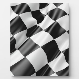 Race Track Flag Flag Black And White Finish Speed Plaque