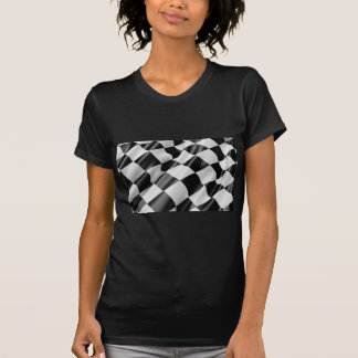 Race Track Flag Flag Black And White Finish Speed T-Shirt