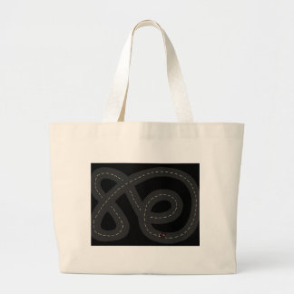 Race Track Large Tote Bag