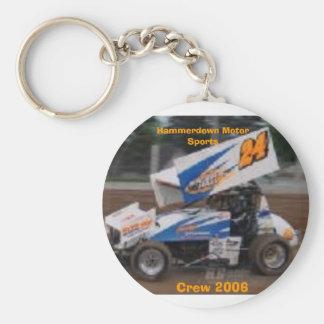 racecar, Crew 2006, Hammerdown Motor Sports Basic Round Button Keychain