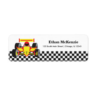 Racecar Return Address Label