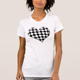 RaceFashion.com Checkered Flag Heart T-Shirt