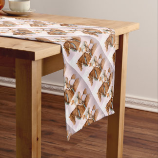 RaceHorse and JockeyWaterColor Short Table Runner