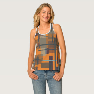 """Racer-back Tank Top with """"New Plaid"""""""