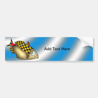 Racer Fish Bumper Sticker