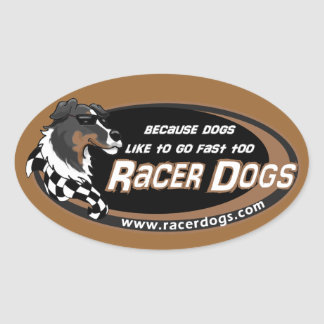 RacerDogs Original Logo Decals Oval Sticker