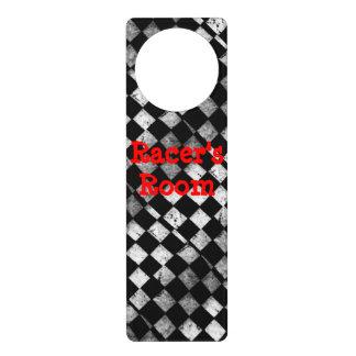 Racer's Room Chequered Flag Door Hanger
