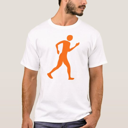 Racewalking - Orange T-Shirt
