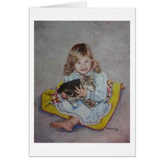 Rachel and her kitten card