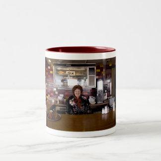 Rachel at Louis' Two-Tone Coffee Mug