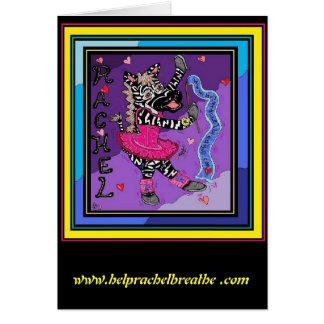 Rachel Balleria Zebra Card
