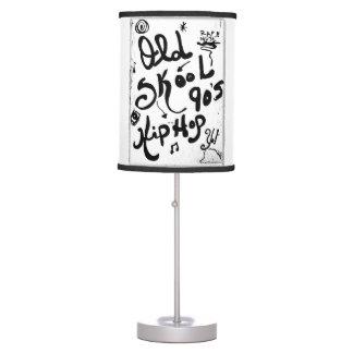 Rachel Doodle Art - Old-Skool 90's Hip-Hop Table Lamp