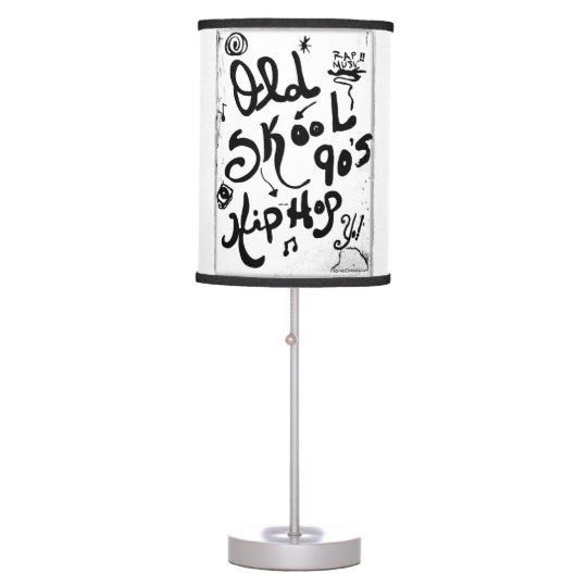 Rachel Doodle Art - Old-Skool 90's Hip-Hop Table Lamps