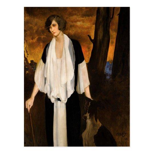 Rachel Strong by Léon Bakst 1924 Postcard