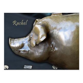 RACHEL THE PIGGY BANK Postcard