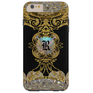 Rachella Elegant Ebony Chic Monogram Tough iPhone 6 Plus Case