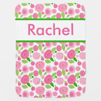 Rachel's Personalized Rose Blanket