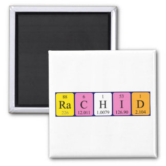 Rachid periodic table name magnet