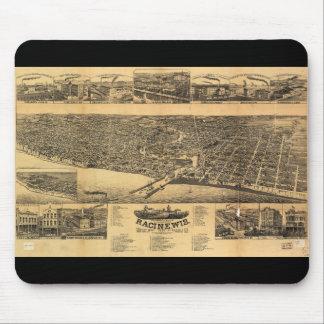 Racine Wisconsin county seat of Racine County 1883 Mouse Pad