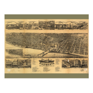 Racine Wisconsin county seat of Racine County 1883 Postcard